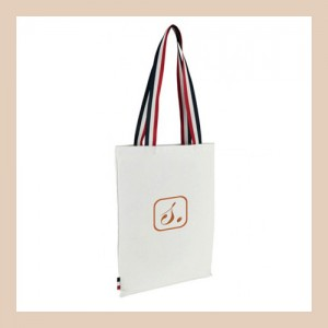 White Tote bag Tricolore