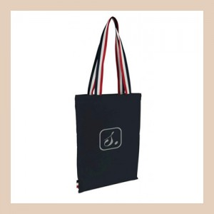 Blue Tote bag Tricolore